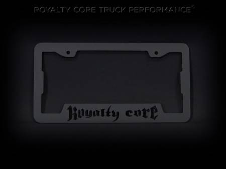 Emblems - Royalty Core - Royalty Core Single License Plate Cover Satin black