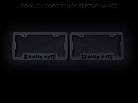 Emblems - Royalty Core - Royalty Core License Plate Cover Set Satin Black