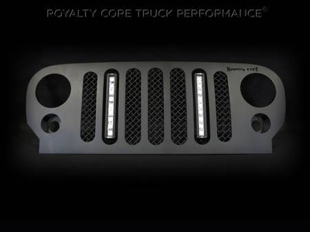 Wrangler - 2007-2016 - Royalty Core - Jeep Wrangler 2007-2016 RCJK Full Grille Replacement W/LED