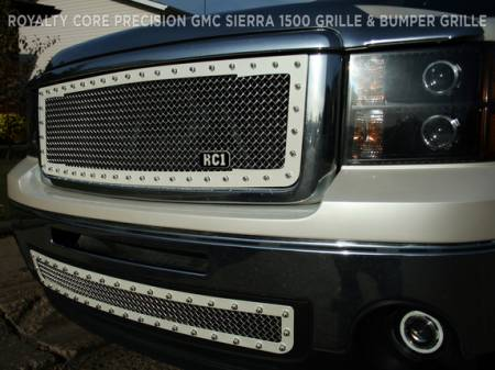 2500/3500 Sierra - 2007-2010 2500 & 3500 Sierra Grilles - Royalty Core - GMC Sierra 2500/3500 HD 2007-2010 RC1 Main Grille Factory Color Match