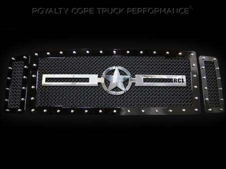 Excursion - 1999-2004 - Royalty Core - Ford SuperDuty 1999-2004 RC1 Main Grille 3 Piece with Chrome War Star Emblem