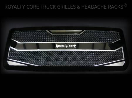 Titan - 2004-2015 Titan Grilles - Royalty Core - Royalty Core Nissan Titan 2005-2007 Full Grille Replacement RC4 Layered Grille 100% Stainless Steel Truck Grille