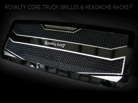 Royalty Core - Royalty Core Nissan Titan 2005-2007 Full Grille Replacement RC4 Layered Stainless Steel Truck Grille - Image 2