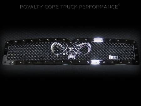 2500/3500/4500 - 1994-2002 - Royalty Core - Dodge Ram 2500/3500 1994-2002 RC1 Main Grille Twin Mesh with Goat Skull Logo