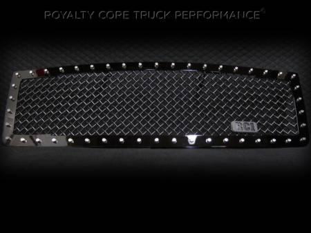 1500 - 2007-2013 1500 Grilles - Royalty Core - GMC Sierra 1500 & Denali 2007-2013 RC1 Main Grille Gloss Black 5.0 Super Mesh