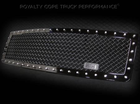 Royalty Core - GMC Sierra 1500 & Denali 2007-2013 RC1 Main Grille Gloss Black 5.0 Super Mesh - Image 2