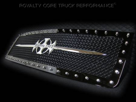 Royalty Core - GMC Sierra 1500 & Denali 2007-2013 RC1 Main Grille with Chrome Sword Assembly - Image 2