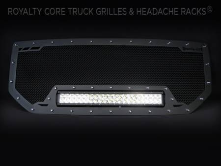 Grilles - RCRXB - Royalty Core - GMC Sierra 1500, Denali, & All Terrain 2016 RCRX LED Race Line Grille