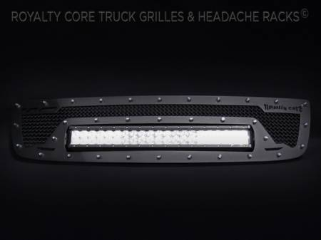 Grilles - RCRXB - Royalty Core - GMC Sierra HD 2500/3500 2003-2006 RCRX LED Race Line Grille