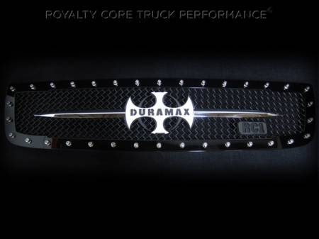 2500/3500 Denali - 2003-2006 - Royalty Core - GMC Sierra 2500/3500 2003-2006 RC1 Main Grille with Chrome Sword Assembly