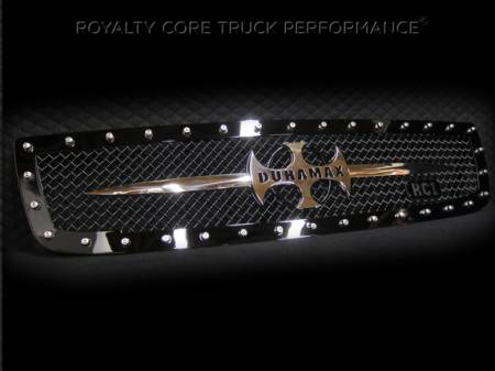 Royalty Core - GMC Sierra 2500/3500 2003-2006 RC1 Main Grille with Chrome Sword Assembly - Image 2