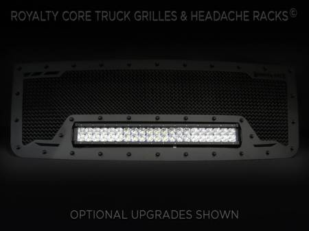 Grilles - RCRXB - Royalty Core - GMC Sierra HD 2500/3500 2007-2010 RCRX LED Race Line Grille
