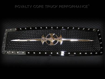 2500/3500 Sierra - 2007-2010 2500 & 3500 Sierra Grilles - Royalty Core - GMC Sierra 2500/3500 HD 2007-2010 RC1 Main Grille with Chrome Sword Assembly