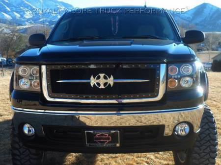 Royalty Core - GMC Sierra 2500/3500 HD 2007-2010 RC1 Main Grille with Chrome Sword Assembly - Image 4