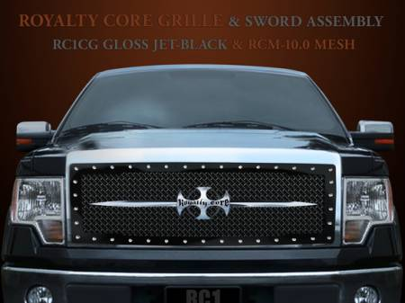F-150 - 2013-2014 F-150 Grilles - Royalty Core - Ford F-150 2013-2014 RC1 Main Grille with Chrome Sword Assembly