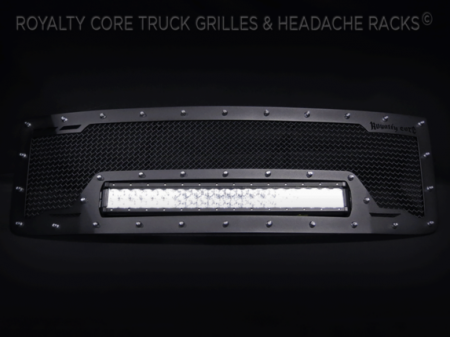 Grilles - RCRXB - Royalty Core - GMC Sierra HD 2500/3500 2011-2014 RCRX LED Race Line Grille