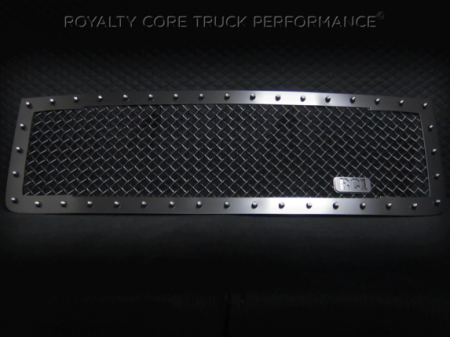 2500/3500 Sierra - 2011-2014 2500 & 3500 Sierra Grilles - Royalty Core - GMC Sierra 2500/3500 HD 2011-2014 RC1 Main Grille Satin Black