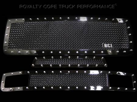 2500/3500 Sierra - 2011-2014 2500 & 3500 Sierra Grilles - Royalty Core - GMC Sierra 2500/3500 HD 2011-2014 RC1 Main, Middle, and Bumper Grille Package