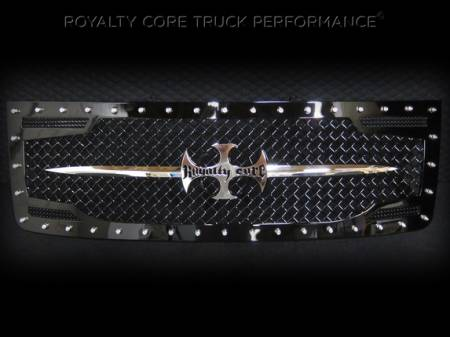 2500/3500 Sierra - 2011-2014 2500 & 3500 Sierra Grilles - Royalty Core - GMC Sierra 2500/3500 HD 2011-2014 RC2 Main Grille with Sword Assembly