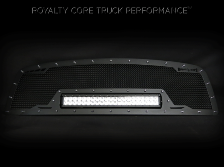 Grilles - RCRXB - Royalty Core - Chevy 2500/3500 2003-2004 RCRX Full Grille Replacement LED Race Line