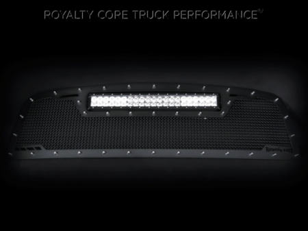 Grilles - RCRXT - Royalty Core - Chevy 2500/3500 2003-2004 RCRX LED Full Grille Replacement-Top Mount LED