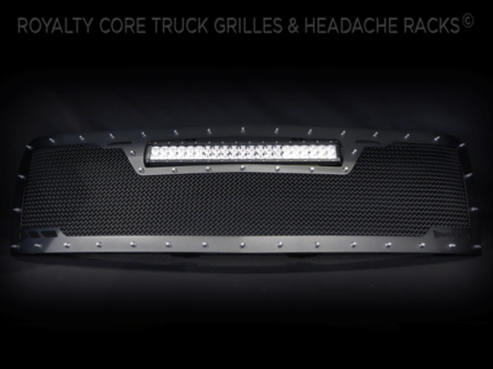 Grilles - RCRXT - Royalty Core - Chevy 2500/3500 2007-2010 RCRX LED Full Grille Replacement-Top Mounted LED
