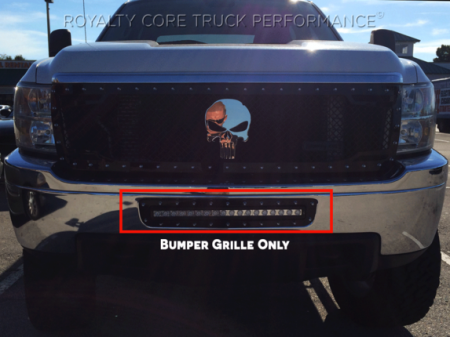 """Royalty Core - Chevy 2500/3500 2011-2014 Bumper Grille with 24"""" LED Light Bar - Image 4"""