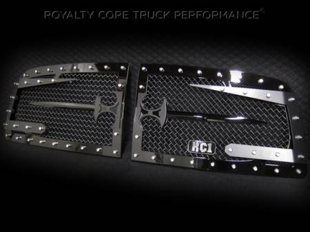 Royalty Core - Dodge Ram 1500 2006-2008 RC3DX Innovative Grille w/ Split Sword Assembly - Image 3