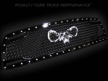 Royalty Core - Dodge Ram 1500 2009-2012 RC2 Main Grille Twin Mesh with Goat Skull Logo - Image 3