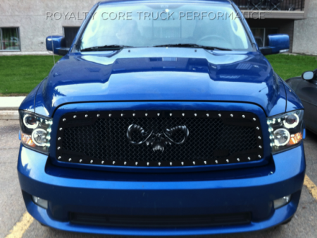 Royalty Core - Dodge Ram 1500 2009-2012 RC2 Main Grille Twin Mesh with Goat Skull Logo - Image 4