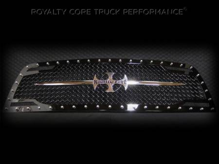 Royalty Core - Dodge Ram 1500 2009-2012 RC2 Main Grille Twin Mesh with Chrome Swords - Image 3