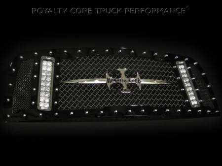 Grilles - RCX - Royalty Core - Dodge Ram 2500/3500 2003-2005 RCX Main Grille w/ Two Double Row LED Light Bars