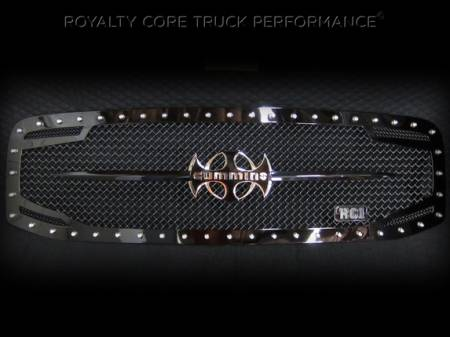 Grilles - RC2 - Royalty Core - Dodge Ram 2500/3500 2006-2009 RC2 Main Grille Twin Mesh & Cummins Sword Assembly