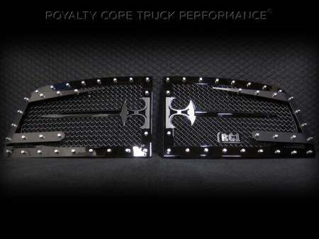 Grilles - RC3DX - Royalty Core - Dodge Ram 2500/3500 2006-2009 RC3DX Innovative Grille w/ Split Sword Assembly