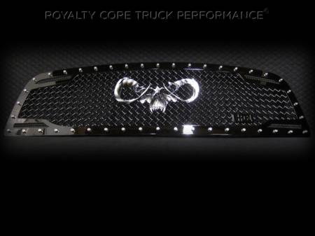 Grilles - RC2 - Royalty Core - Dodge Ram 2500/3500 2010-2012 RC2 Main Grille Twin Mesh with Goat Skull Logo