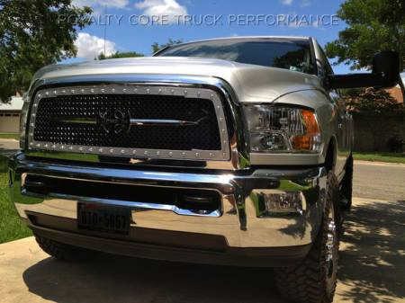 Royalty Core - Dodge Ram 2500/3500 2010-2012 RC1 Grille Factory Color Matched w/ Sword Assembly - Image 2