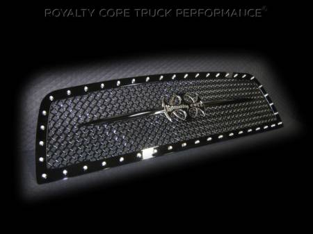 2500/3500/4500 - 2013-2018 2500, 3500, & 4500 Grilles - Royalty Core - Dodge Ram 2500/3500 2013-2018 RC1 Main Grille Gloss Black & Black Sword Assembly