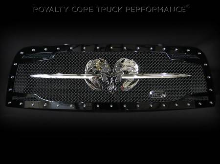 Grilles - RC2 - Royalty Core - Dodge Ram 2500/3500 2013-2017 RC2 Grille Twin Mesh w/ Speared Ram Sword Assembly