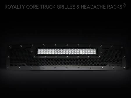 Grilles - RCRXT - Royalty Core - Ford SuperDuty 1992-1998 RCRX LED Race Line Grille-Top Mount LED
