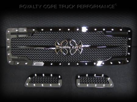 Excursion - 1999-2004 - Royalty Core - Ford Super Duty 1999-2004 RC2 Twin Mesh Main Grille 3 Piece with Chrome Logo