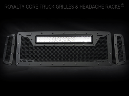 Grilles - RCRXT - Royalty Core - Ford SuperDuty 2005-2007 RCRX LED Race Line Grille-Top Mount LED