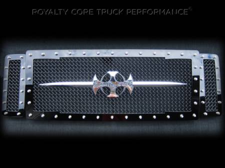 Royalty Core - Ford Super Duty 2005-2007 RC1 Main Grille 3 Piece with Chrome Sword Assembly - Image 1