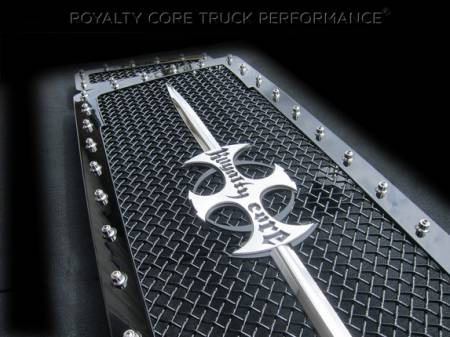 Royalty Core - Ford Super Duty 2005-2007 RC1 Main Grille 3 Piece with Chrome Sword Assembly - Image 2
