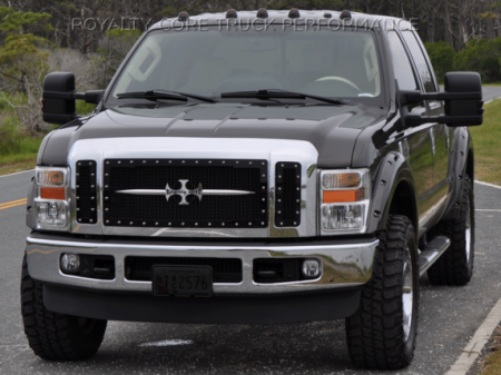 Royalty Core - Ford Super Duty 2005-2007 RC1 Main Grille 3 Piece with Chrome Sword Assembly - Image 3