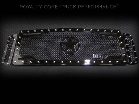 Royalty Core - Ford Super Duty 2005-2007 RC2 Twin Mesh Main Grille 3 Piece w/ War Star - Image 2