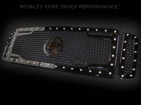Royalty Core - Ford Super Duty 2005-2007 RC2 Twin Mesh Main Grille 3 Piece w/ War Star - Image 3
