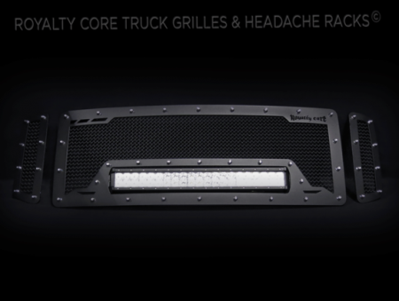 Grilles - RCRXB - Royalty Core - Ford SuperDuty 2008-2010 RCRX LED Race Line Grille