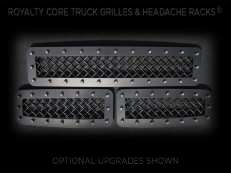 Excursion - 2008-2010 Excursion Grilles - Royalty Core - Ford Super Duty 2008-2010 3 Piece Bumper Grille