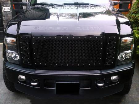 SuperDuty - 2008-2010 - Royalty Core - Ford SuperDuty 2008-2010 RC1 Main Grille 3 Piece Satin Black
