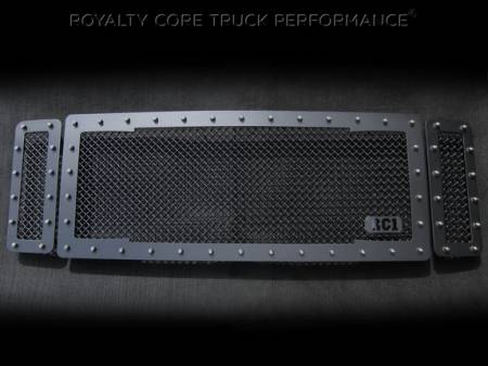 Royalty Core - Ford Super Duty 2008-2010 RC1 Main Grille 3 Piece Satin Black - Image 4